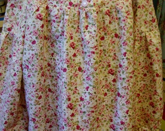 Floral Cotton Top Size 5 w/ Bishop Sleeves Perfect for Preschool or Kindergarten