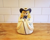 "Lost Her Sheep… Vintage 1940s Shawnee ""Bo Peep"" Pitcher, Hand Painted"