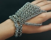 Custom Chainmaille hand piece from Repetitive Motions
