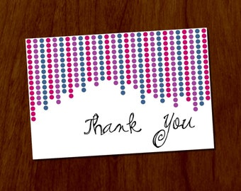 Dots 4x6 Printable Thank You Card