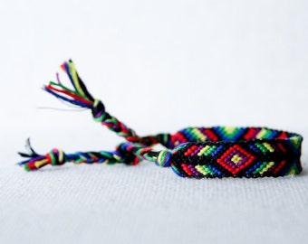 Friendship Bracelet Woven Bracelet Tribal Diamond Chevron Stocking Stuffer