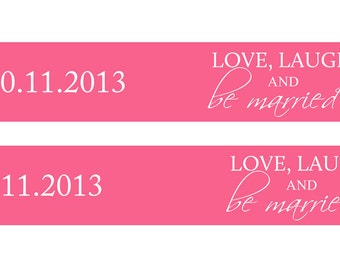 Love, laugh and be married - Printable Straw labels