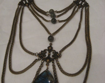 Crystal dream victorian/steampunk necklace