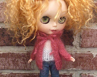 Blythe Sweater Hand Knit in  Mohair Plumberry