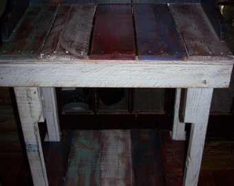 Reception, Hostess, Writing, or Bible Desk from Recycled and Reclaimed Pallet Wood