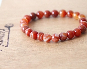 GENUINE Carnelian Bracelet Healing Crystal Natural Stone Yoga Jewelry healing jewelry healing bracelet jewelry positive energy