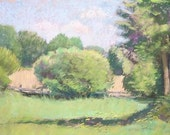 "Original Pastel Landscape Painting - ""The Old Horse Farm"" by Colette Savage"