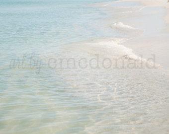 Serenity  - Photographic Print - Sea, Blue, Clear, Water, Beach, Summer, Ocean, Coastal, Coast, Shore, gulf, decor, wall, hanging, natural