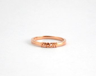 Pro Love - Meow Ring Rose Gold Sizes 5-9