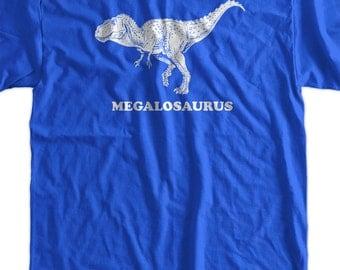 Megalosaurus Dinosaur Dino Geek Science School Screen Printed T-Shirt  mens womens ladies youth kids