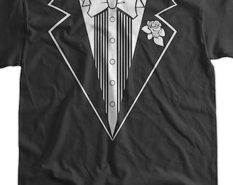Funny Tuxedo Wedding Anniversary Party Fancy Dress T-Shirt - Tuxedo Tee Shirt T Shirt TShirt Mens