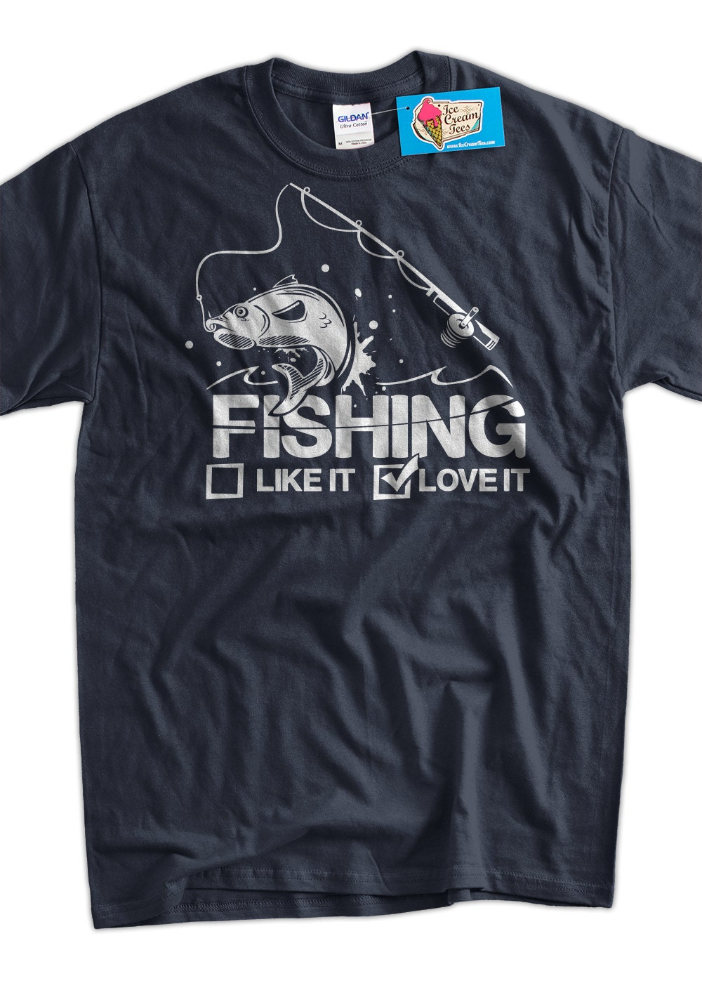 Funny fishing shirt fishing like it or love it t shirt for Funny fishing t shirts