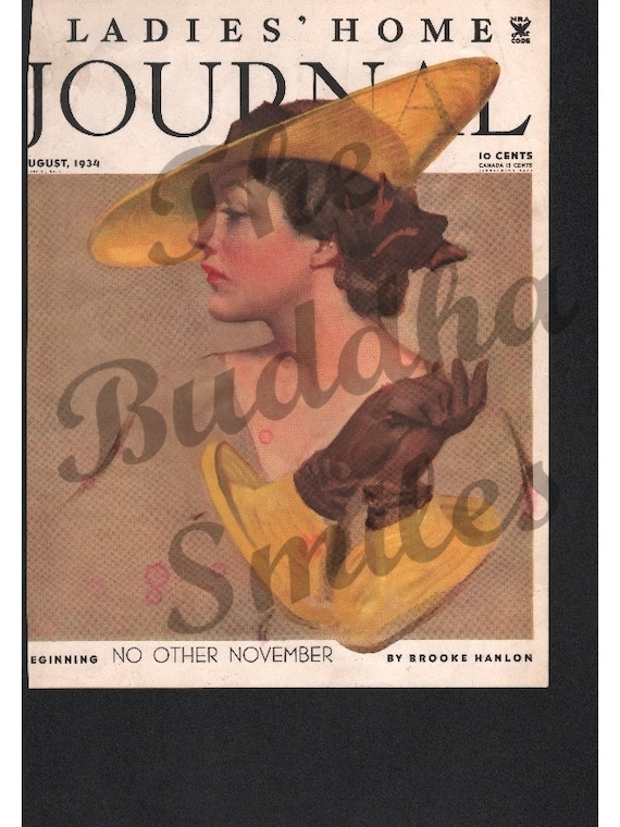 Vintage Magazine Cover - Ladies Home Journal August 1934 (1131)