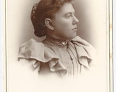 Victorian Woman Antique Cabinet Card Photograph Cambridge, Ohio