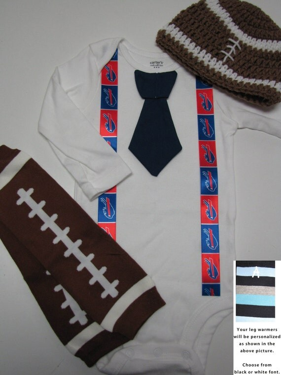 BUFFALO BILLS inspired football outfit for baby boy tie