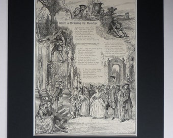 Antique William Cosmo Monkhouse Poem - Victorian Decor - Available Framed - Art Print - 18th Century Design - Free Shipping On 60GBP Order