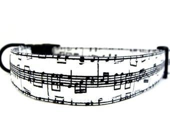 HIP PUP.....Music Notes.....Dog Collar
