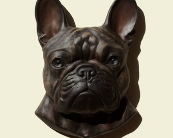 french bulldog statue etsy. Black Bedroom Furniture Sets. Home Design Ideas