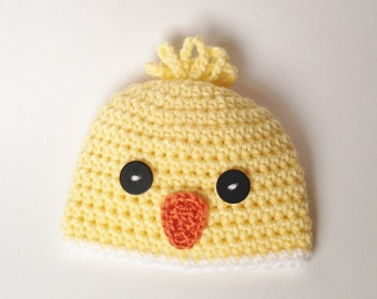 Baby Hat - Crochet Baby Hat - Crochet Hat - Photo Prop - Easter Hat - Chick Hat - Crochet Chick Hat -Shower Gift - Knit Hat - Spring Hat