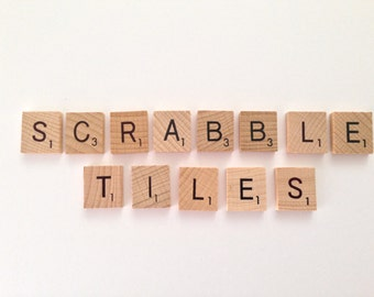 100 x wooden Scrabble Tiles letters - Magnets / Pendants / Craft 1 Complete Set