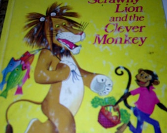 The Tawny Scrawny Lion and the Clever Monkey  -  Golden Book 1974