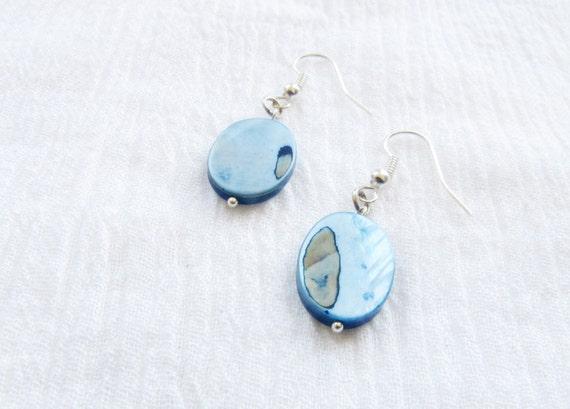 Blue, Turquoise Aqua Earrings, earrings