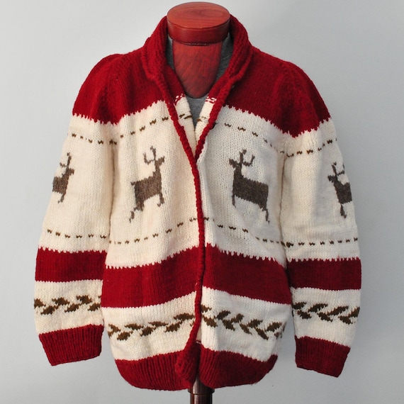 Santa clause sweater cardigan with buttons