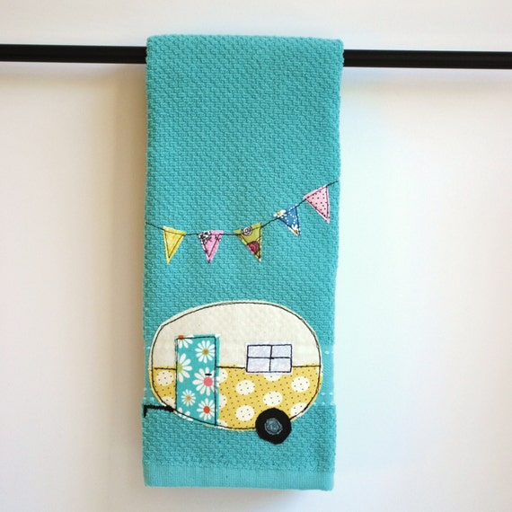 Tea Towels Pillow Talk: Vintage Camper Trailer Tea Towel By CreativeJunkee On Etsy
