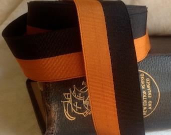 black and orange grosgrain ribbon