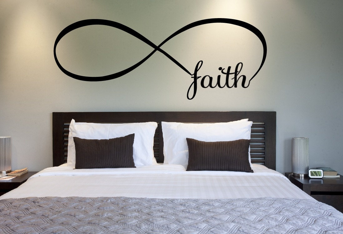 infinity symbol bedroom wall decal faith bedroom decor home zoom
