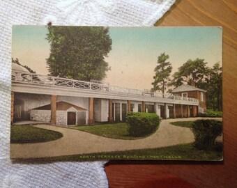 Vintage Postcard, North Terrace Building, Monticello, Charlottesville, Virginia 1940s Paper Ephemera