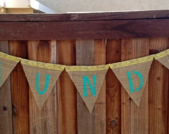 Burlap Banner/ Laundry Sign