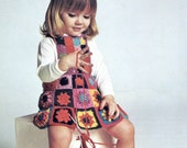 Groovy Girls Crochet Dress in Granny Squares