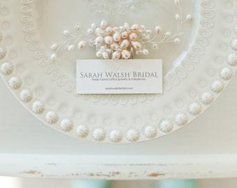 Blush Hairpiece, Blush Bridal Hair Comb, Bridal Hairpiece, Freshwater Pearl Hairpiece, Bridal Hair Comb, Bridal Head Piece