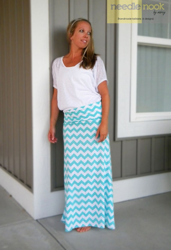 The PLUS SIZE Chevron Maxi Skirt Women\'s Maxi Skirt