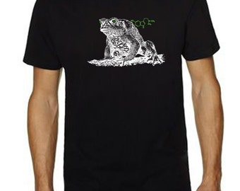 Men's Cane Toad Shirt - bufo toad - psychoactive toad