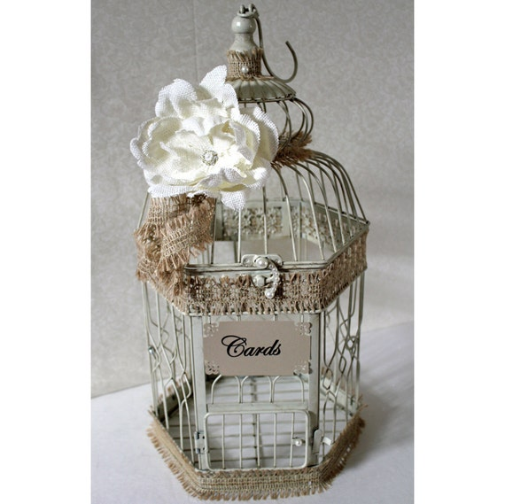 Vintage Wedding Gift Card Holder : Card Sign Wording Select an option Defult option