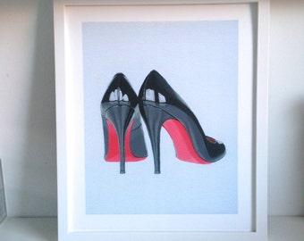 "SALE! Louboutin Heels Art Print - 10 X12"""