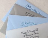 ADD ON Return Address envelope printing- 1color - Custom Design