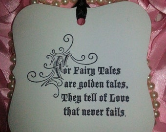 100 WISH TREE TAGS Fairytales Love Never Fails