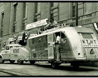 Vintage Trailer Print - Mobile Studio Broadcast - Film - Radio - Republican Convention Philadelphia Civic Center