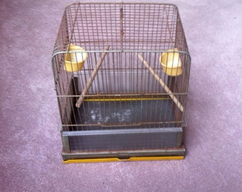 Delightful rusty old Pacific midcentury gold birdcage mid century bird cage
