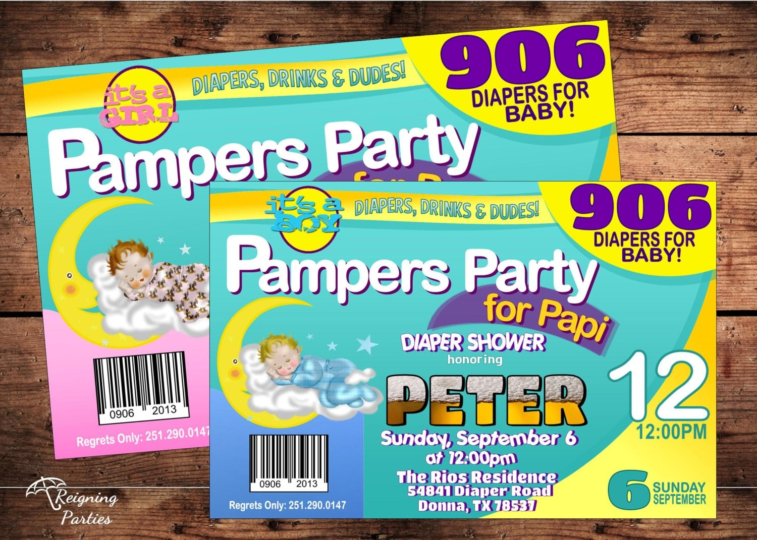 Beer and diaper party invitations gangcraft diaper shower for dad invitation babies beer invitation party invitations filmwisefo