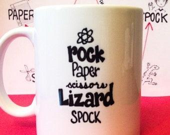 Big BANG Theory Inspired MUG Lizard SPOCK Expansion