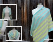 Infinity Nursing Scarf // Nursing Cover // Oatmeal with Mint and Yellow Stripe