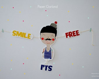 Paper Garland - Smile its Free-.