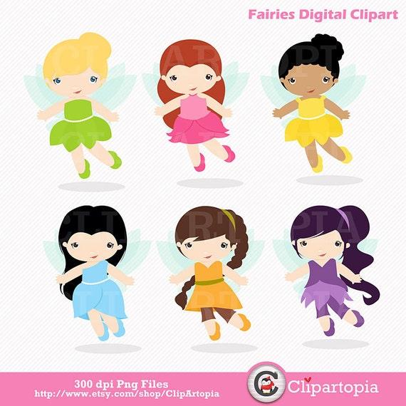 Fairies Digital ClipArt / Fairy Digital Clip art / Cute