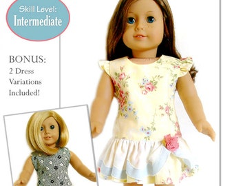 Pixie Faire Jelly Bean Soup Designs Jennifer and Kate Doll Clothes Pattern for 18 inch American Girl Dolls - PDF