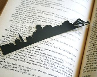 San Francisco, California - Hand-cut Silhouette Bookmark, United States Bookmark, San Francisco Skyline