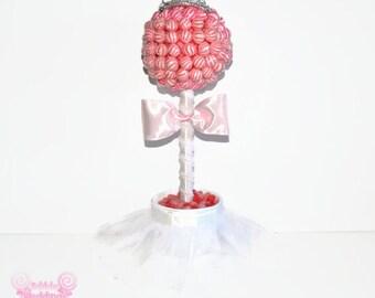 Lollipop Bride Topiary, Candy Bride Topiary, Candy Topiary, Lollipop Topiary, Wedding Centerpiece, Lollipop Centerpiece, Weddings, shower